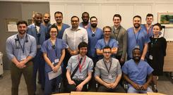 The team at Beaumont Neurosurgery shared a group photo and wrote;
