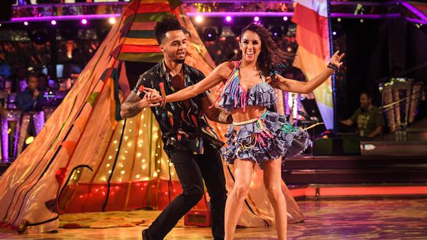 Aston Merrygold and his dance partner Janette Manrara (BBC/PA)