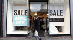 Signs of the times: High Street stores have had sales on for some time, with online companies leading to a reduction in footfall. Photo: Damien Eagers