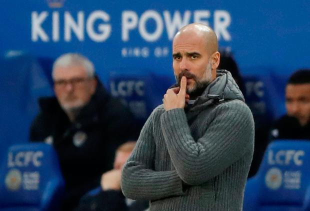 Soccer Football - Premier League - Leicester City v Manchester City - King Power Stadium, Leicester, Britain - December 26, 2018 Manchester City manager Pep Guardiola looks on Action Images via Reuters/Carl Recine
