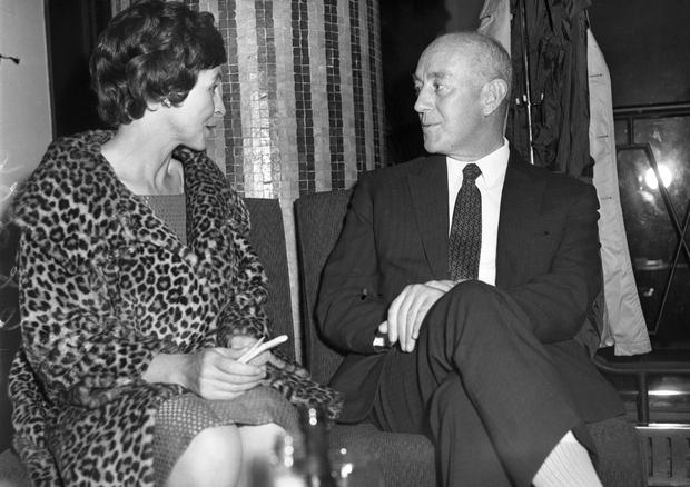 Theatrical titans: Phyllis Ryan, who founded the Eblana Theatre with Sir Alec Guinness at Eblana Theatre in 1962.