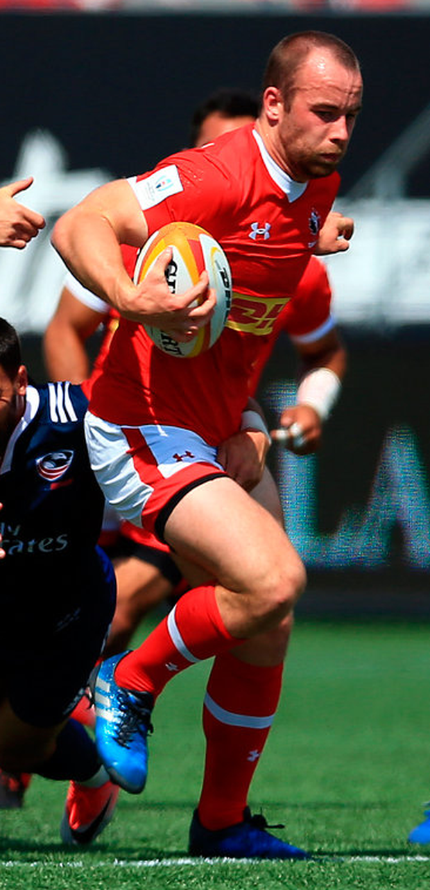 Canada boy: Shane O'Leary in action against the USA. Photo: Vaughn Ridley/Getty Images