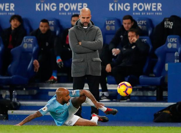 WORRYING TIMES: Pep Guardiola needs to bolster his tired-looking Manchester City squad in the January transfer window. Photo: Action Images via Reuters