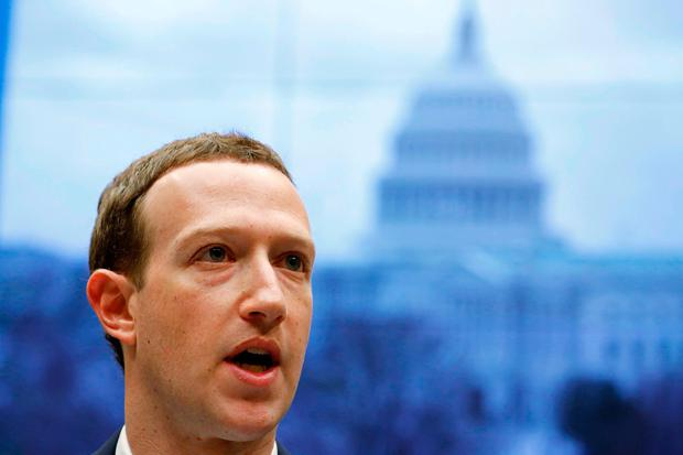 Under fire: Facebook CEO Mark Zuckerberg faced scrutiny in Washington. Photo: Reuters