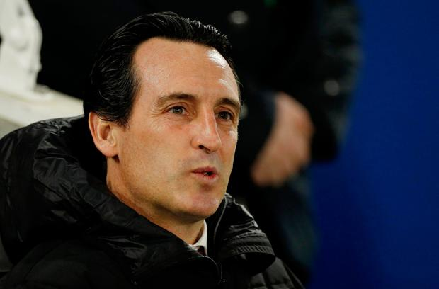 High stakes: Unai Emery seems to be preoccupied above all with striving for the right attacking formula. Photo: Action Images via Reuters
