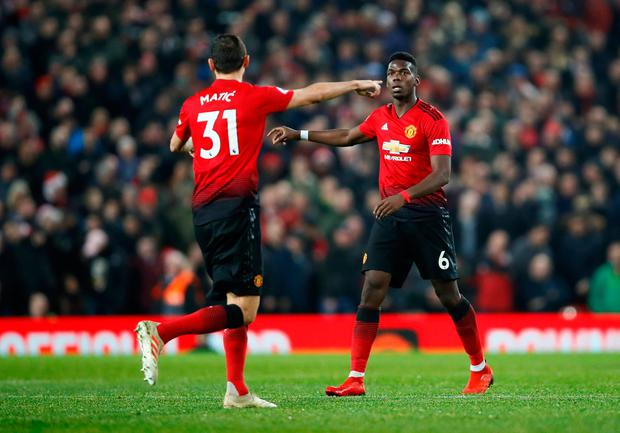 Matic believes that his midfield partner's quality can set United apart, and thinks Pogba can play even better than his eye-catching St Stephen's Day display. Photo: Action Images via Reuters