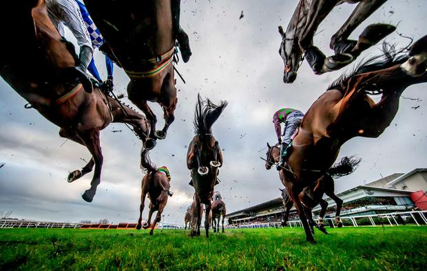 A general view of the runners and riders during The Paddy Power Steeplechase. Credit ©INPHO/Morgan Treacy