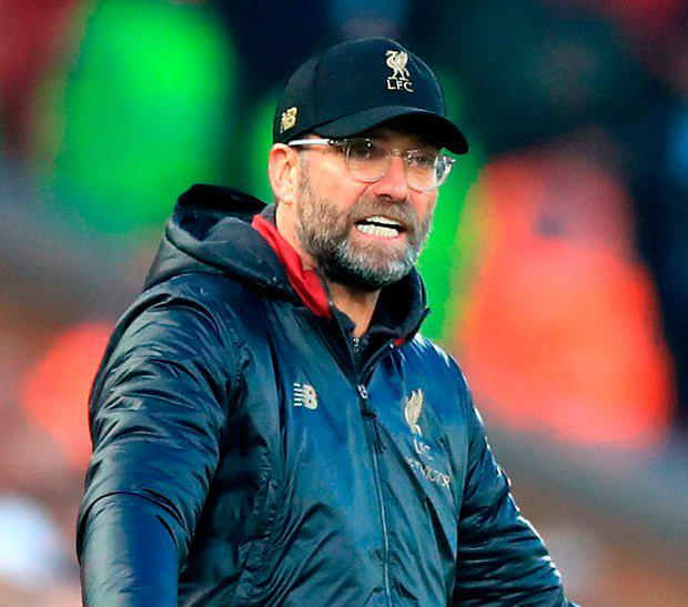 Jurgen Klopp welcomes Arsenal to Anfield this evening before Thursday's crucial trip to face Manchester City at the Etihad. Photo: Peter Byrne/PA Wire