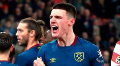 Hammer time: Declan Rice signs new deal. Photo: Andrew Matthews/PA