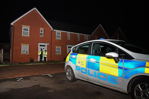 Police outside a house in Margate after two children were discovered at the property Photo credit: Kirsty O'Connor/PA Wire