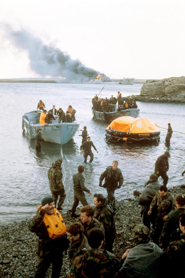 British troops in the Falklands in 1982