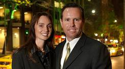 Resigned: Andrew Broad and wife Rachel