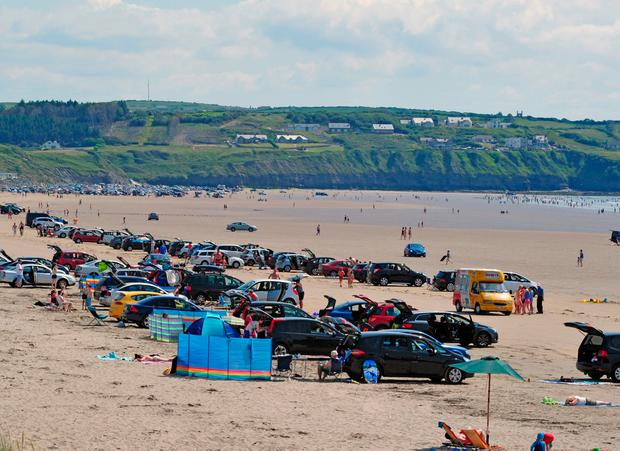 Popular: There is an ongoing altercation over patches at Rossnowlagh Beach, the court heard