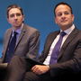 HOSPITAL PLANS: Simon Harris, Minister for Health, with Taoiseach Leo Varadkar