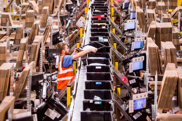 In its last major report on the issue, PwC found that 67pc of Irish consumers now shop on Amazon. Photo: Bloomberg