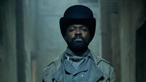 Javert, played by David Oyelowo, in the new BBC adaptation of Les Miserables (Robert Viglasky/BBC)