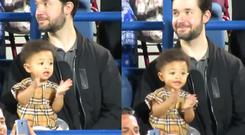Alexis Ohanian with his daughter Olympia