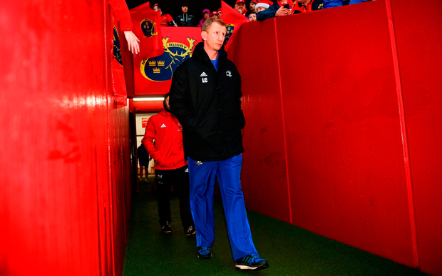 BAD NIGHT: Leinster's head coach Leo Cullen. Photo by Ramsey Cardy/Sportsfile