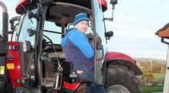 Riding high: Martin Murphy took part in a charity tractor run last week. Photo: Paul Connor