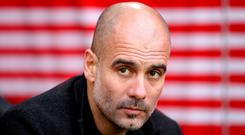 Manchester City manager Pep Guardiola. Adam Davy/PA Wire