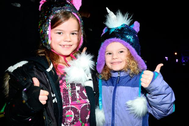 Kenzie and Kalia Crane from Washington at the New Years Festival Dublin. Photo: Justin Farrelly.