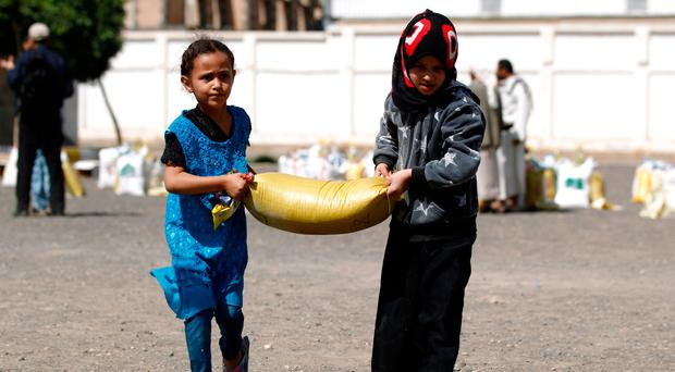 'Children are left hungry as food aid to starving Yemenis stolen'
