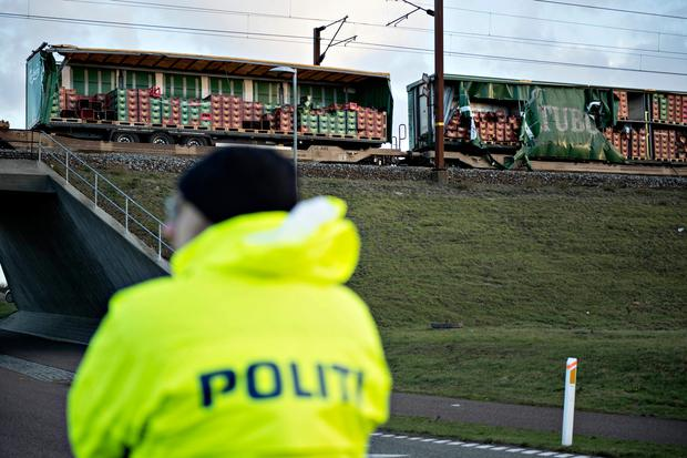 Train accident on Danish bridge kills six