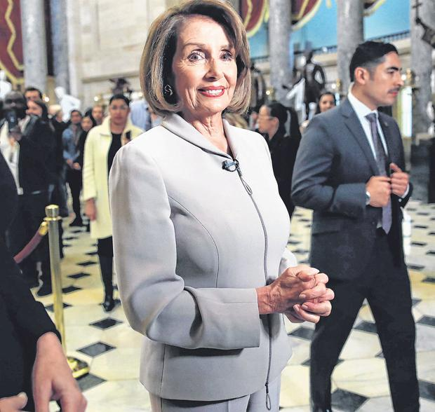 Assuming the mantle: House Democratic Leader Nancy Pelosi walks into the US Capitol on the eve of her party taking control of the House. Photo: Win McNamee/Getty Images