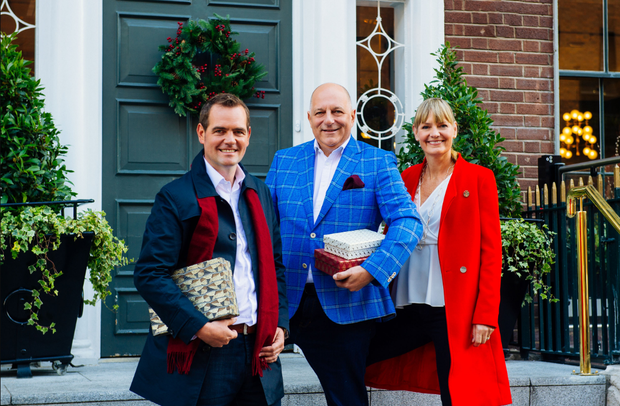 Celebrity Home of the Year judges Peter Crowley, Hugh Wallace and Deirdre Whelan