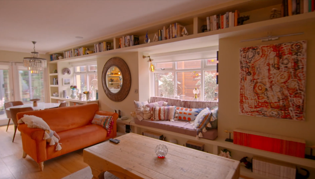 John Boyne's living area