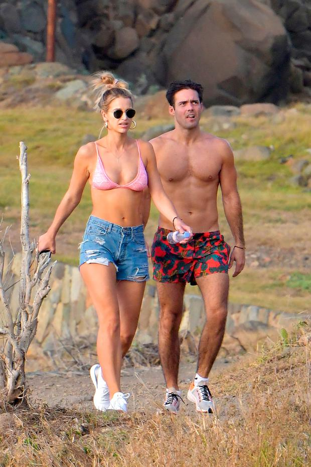 Spencer Matthews and Vogue Williams in St Barth's. Picture: IMP features/Eliotpress/MEGA