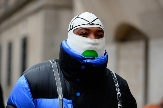 A$AP Bari, 27, real name Jabari Shelton, who is charged with two counts of sexual assault on July 10 2017, arrives at the Old Bailey in central London. Photo: Kirsty O'Connor/PA Wire
