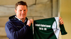 Malcolm O'Kelly at yesterday's launch of the Ireland v England Legends match. Photo: Matt Browne/Sportsfile