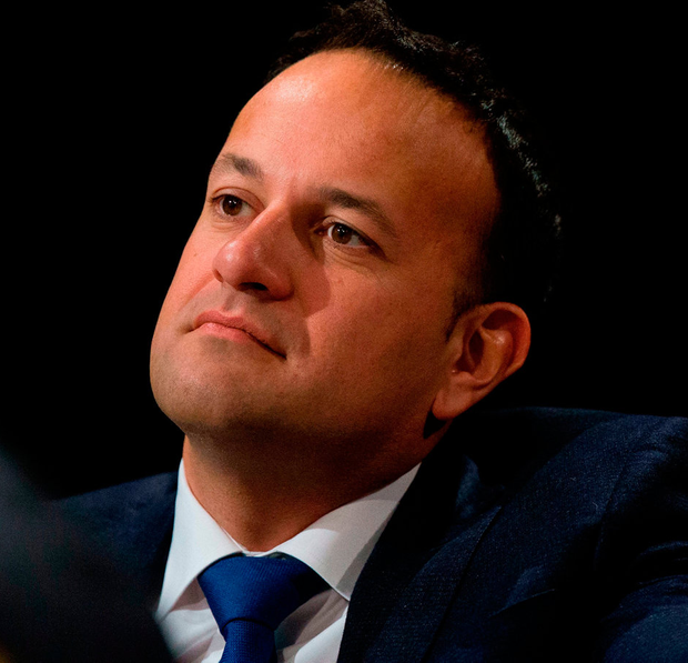 Taoiseach Leo Varadkar alluded to the risks to the Irish economy yesterday during a conversation with German Chancellor Angela Merkel. Photo: Tom Honan/PA