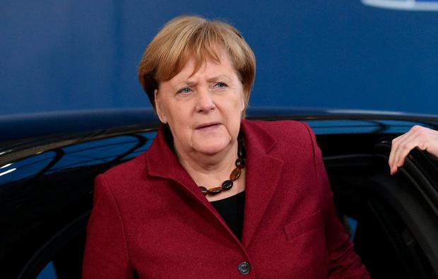 Angela Merkel had a 40-minute call with Varadkar. Photo: REUTERS