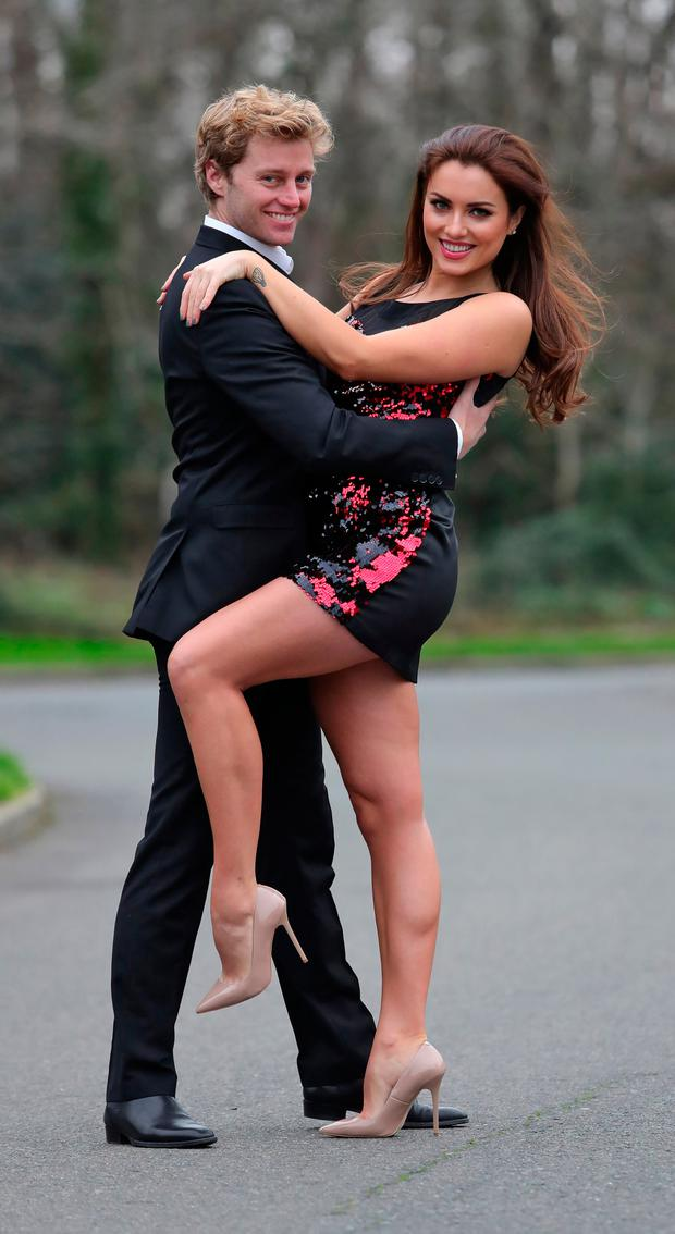 New Dancing with the Stars pro dancer, Trent Whiddon pictured with Holly Carpenter at Ardmore Film Factory. Picture: Colin Keegan/Collins Dublin