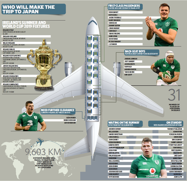 A look ahead to Ireland's World Cup campaign later this year