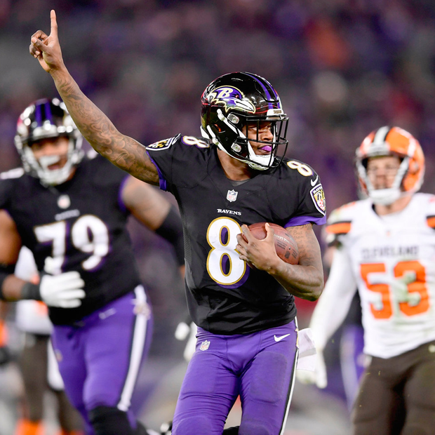 Dynamic Baltimore rookie Lamar Jackson. Credit: Tommy Gilligan-USA TODAY Sports