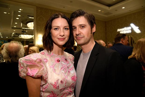 LOS ANGELES, CA - JANUARY 05: Caitriona Balfe (L) and Tony McGill attends The BAFTA Los Angeles Tea Party at Four Seasons Hotel Los Angeles at Beverly Hills on January 5, 2019 in Los Angeles, California. (Photo by Kevork Djansezian/BAFTA LA/Getty Images)