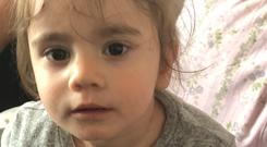 Undated handout photo issued by the Metropolitan Police of Maria Tudricai, a 17-month-old girl who was inside her father's black Audi car when it was stolen in Newham, east London, on Sunday afternoon, Scotland Yard said. Photo: Metropolitan Police/PA Wire