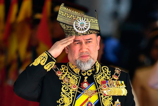 Malaysian King Sultan Muhammad V has abidcated. Photo: AFP/Getty Images