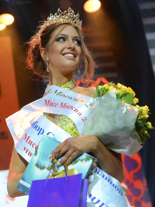 Rumours: Oksana Voevodina was Miss Moscow winner in 2015. Photo: Reuters