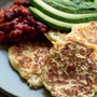 Corn cakes with Mexican beans by Tom Kerridge