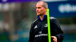 Stuart Lancaster says Leinster players need to be 'controlled and composed' to cope with the Toulouse challenge. Photo: Sportsfile