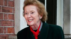 Mary Robinson at the Global Ireland 2025 conference. Photo: Steve Humphreys