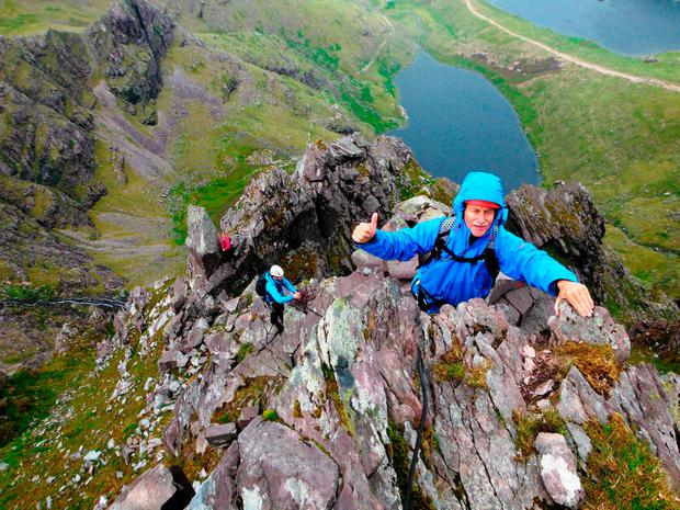 Spectacular: Climbers enjoy the sights of the McGillycuddy Reeks in Co Kerry