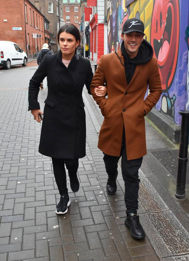Jake Carter and his DWTS girlfriend Karen Byrne spotted walking on Camden Place