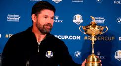 European Ryder Cup captain Padraig Harrington during the Team Europe Ryder Cup Press Conference at the Wentworth Golf Club, Surrey. Adam Davy/PA Wire.
