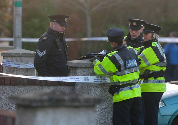 Gardaí at the scene of a house in Clonmore, Co. Ardee where a woman body was found. Picture credit; Damien Eagers / INM