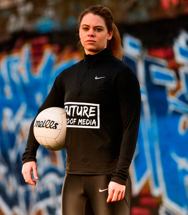 Dublin ladies footballer Noelle Healy at the launch of Future Proof Media in Dublin yesterday. Photo: Ramsey Cardy/Sportsfile